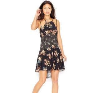 Intimately Free People Floral Crescent Slip Dress